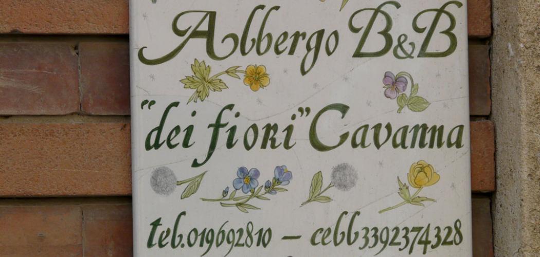 """Albergo B&B """"dei fiori"""" Cavanna (Ph: Provincia di Savona)"""