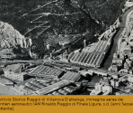 Archivio Storico Piaggio di Villanova D'albenga, immagine aerea dei cantieri aeronautici IAM Rinaldo Piaggio di Finale Ligure, s.d. [anni Sessanta/Settanta].
