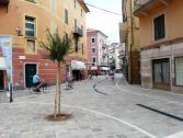 Nuova zona pedonale in via Drione a Finalpia (Ph: Provincia di Savona)