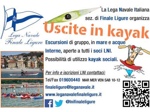 Uscite in Kayak (Ph: Lega Navale)