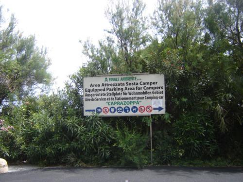 Equipped Parking Area for Campers (Ph: Provincia di Savona)