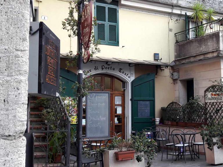Bar di Porta Testa (Ph: Provincia di Savona)