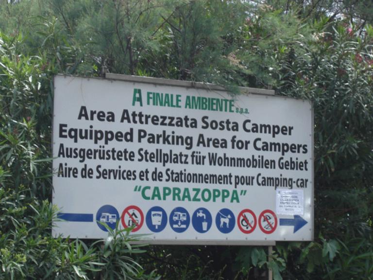 Area attrezzata camper (Ph: Provincia di Savona)